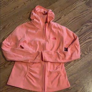 North Face zip fleece jacket
